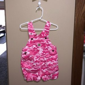 Carhartt pink camouflage coveralls 18 mo